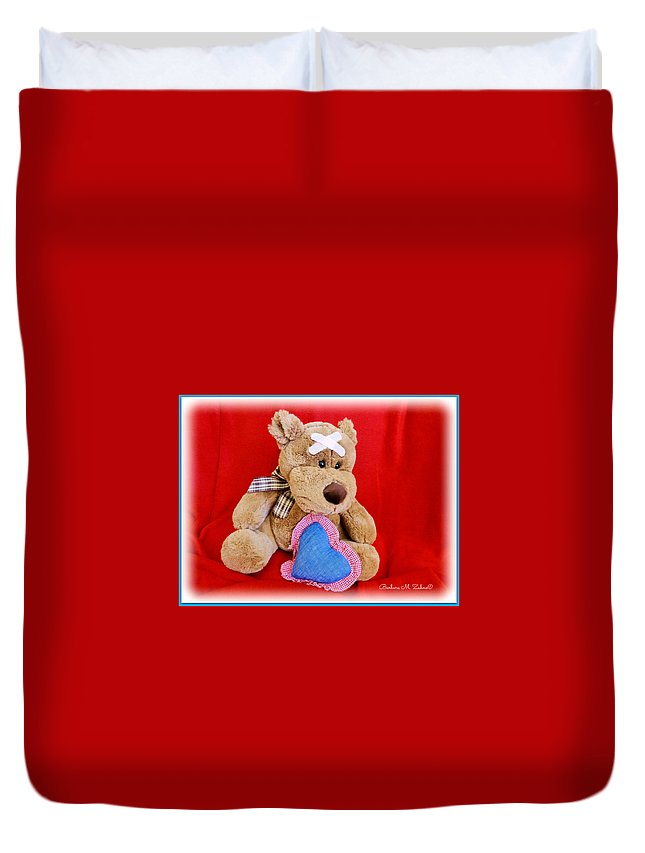 Kids Duvet Cover featuring the photograph Get Well Soon by Barbara Zahno