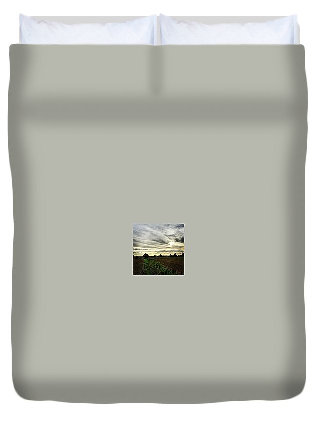 Beautiful Duvet Cover featuring the photograph Getting Chilly Out There by Vicki Field