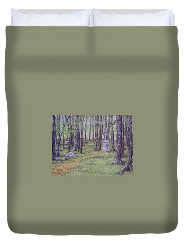 Gettysburg Duvet Cover featuring the pastel Gettysburg Pathway by Joann Renner