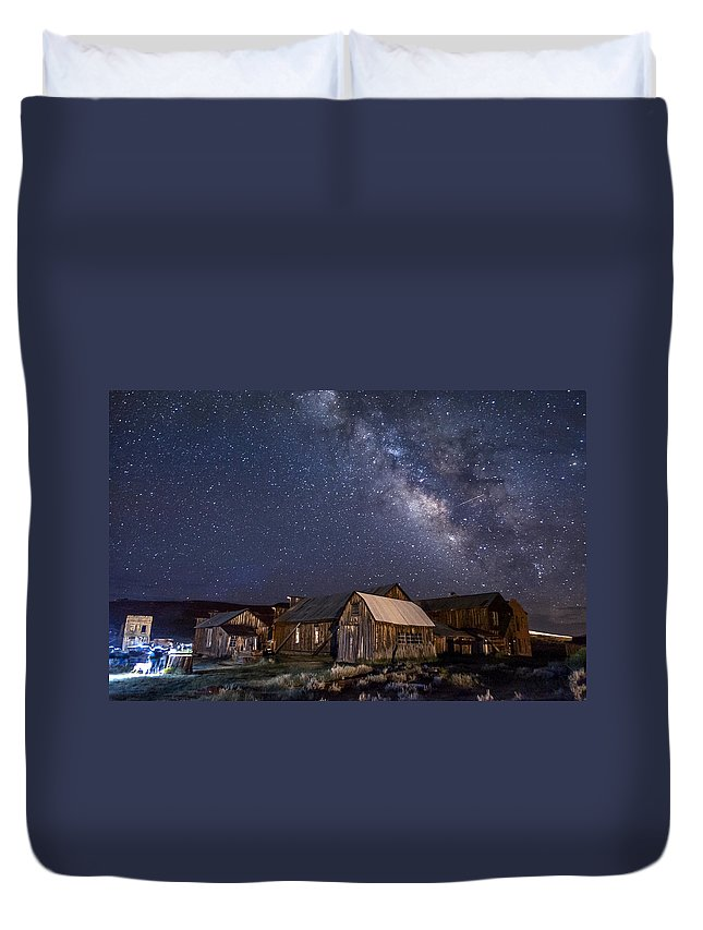 California Duvet Cover featuring the photograph Ghost Dog At Bodie by Cat Connor