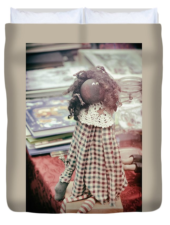 Antique Duvet Cover featuring the photograph Ghost From The Past by Zina Zinchik