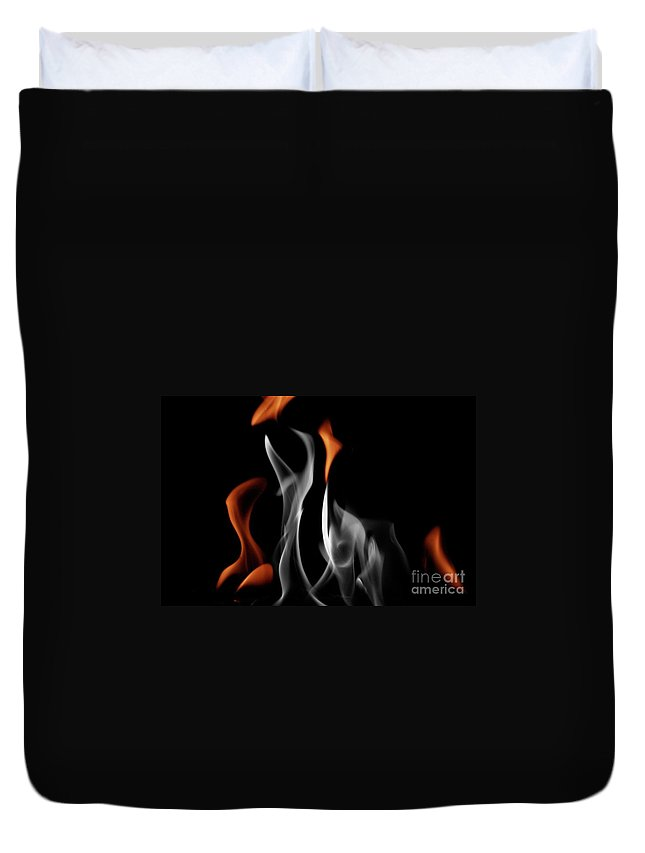 Fire Duvet Cover featuring the photograph Ghostly Flames by Rick Monyahan