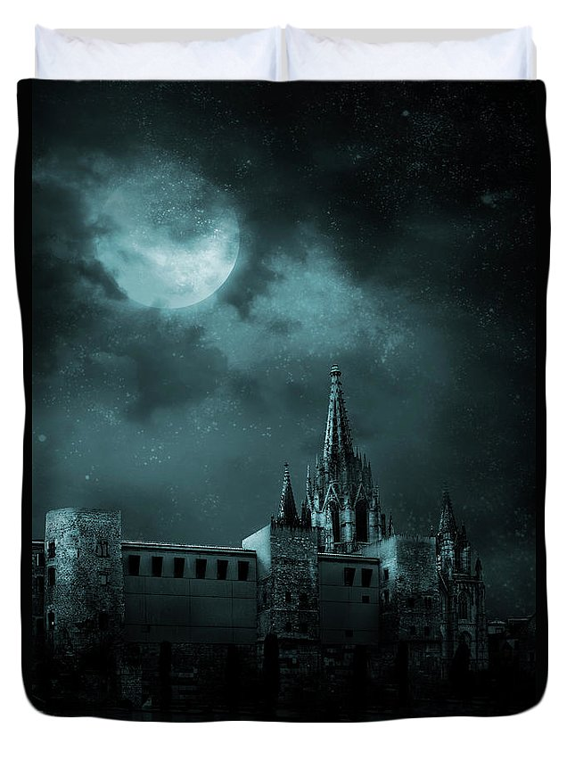 Gothic Style Duvet Cover featuring the photograph Ghosts In The Empty Town by Vladgans