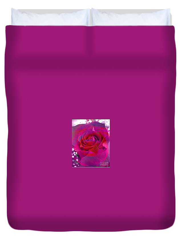 Digital Image Duvet Cover featuring the digital art Gift Of The Heart by Yael VanGruber