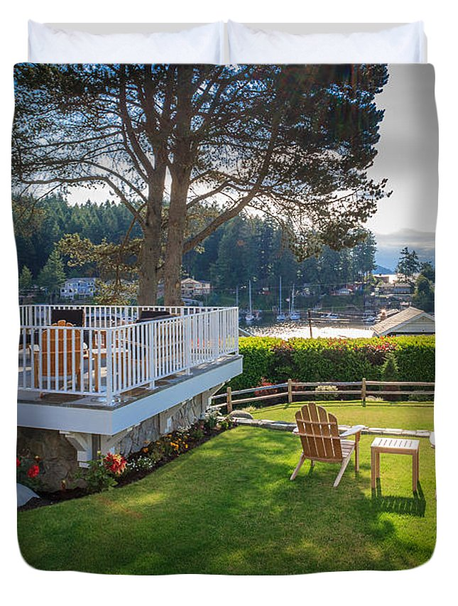 Gig Harbor Duvet Cover featuring the photograph Gig Harbor View 1 by Mike Penney