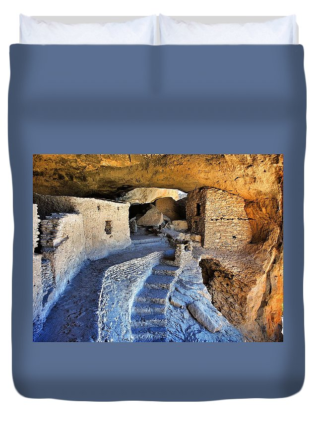 Gila Pad Duvet Cover featuring the photograph Gila Pad by Skip Hunt