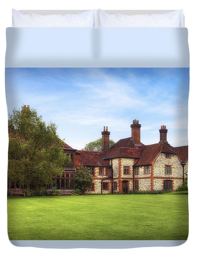 Gilbert White's House Duvet Cover featuring the photograph Gilbert White's House by Joana Kruse