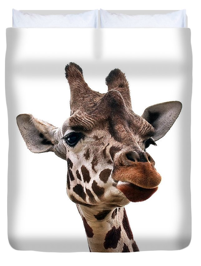 Nature Duvet Cover featuring the photograph Giraffe by Marcia Colelli