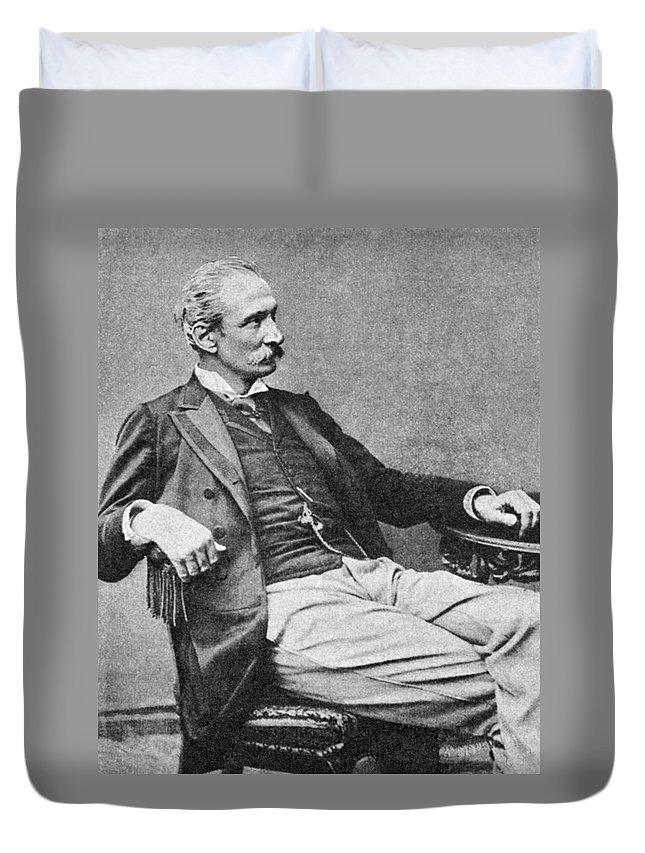 19th Century Duvet Cover featuring the photograph Giuseppe Zanardelli (1824-1903) by Granger