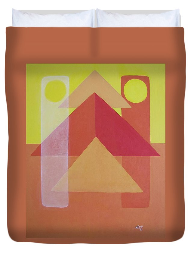 Giza Duvet Cover featuring the painting Giza by Michael TMAD Finney AKA MTEE