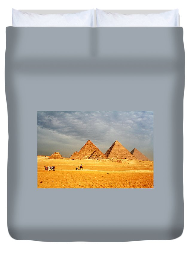 Egypt Duvet Cover featuring the photograph Giza by Sheryl Chapman Photography