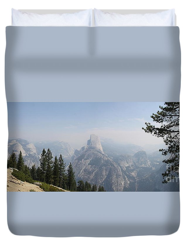 Glacier Point Duvet Cover featuring the photograph Glacier Point Panorama View by Christiane Schulze Art And Photography