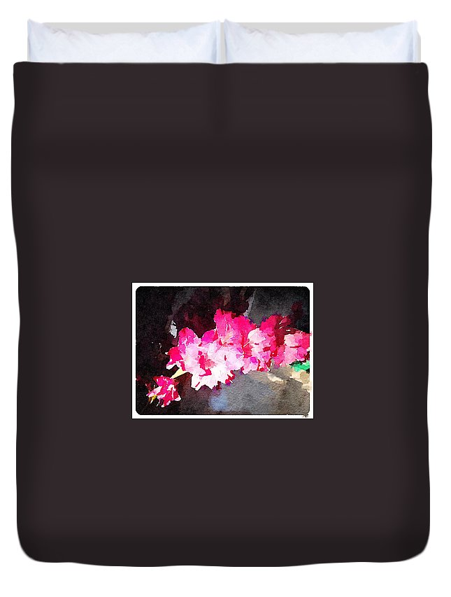 Waterlogue Duvet Cover featuring the digital art Glads by Shannon Grissom
