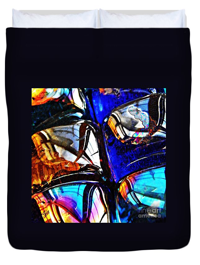 Glass Abstract 4 Duvet Cover featuring the photograph Glass Abstract 4 by Sarah Loft