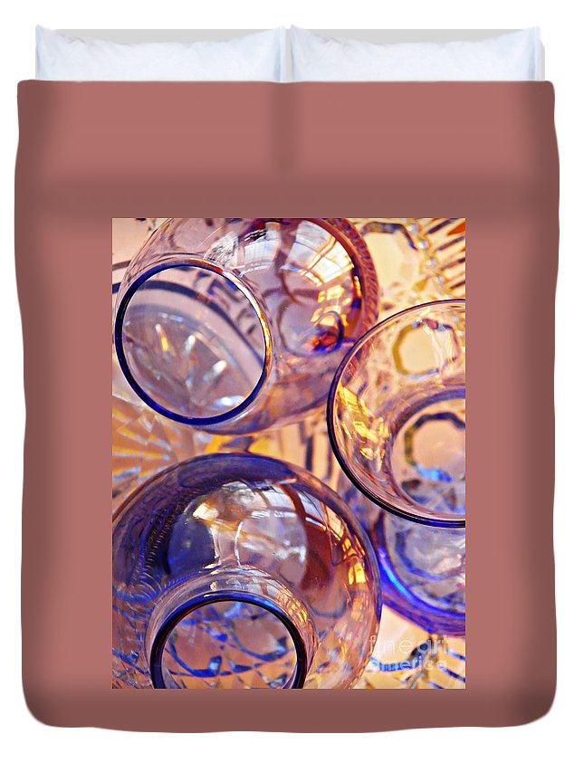 Abstract Duvet Cover featuring the photograph Glass Abstract 620 by Sarah Loft