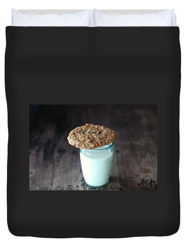 Milk Duvet Cover featuring the photograph Glass Of Milk by Shawna Lemay