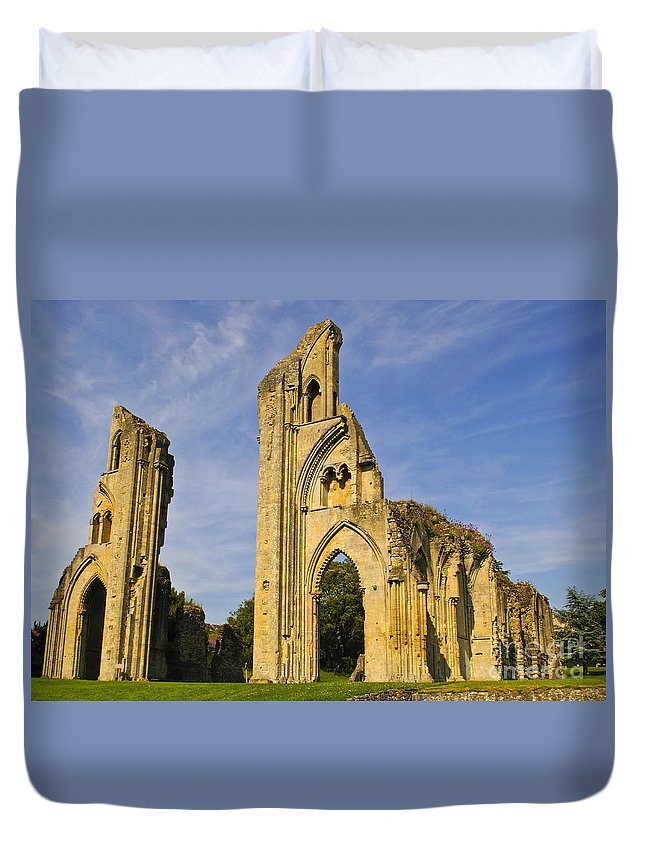 Glastonbury Abbey Duvet Cover featuring the photograph Glastonbury Abbey by Lana Enderle