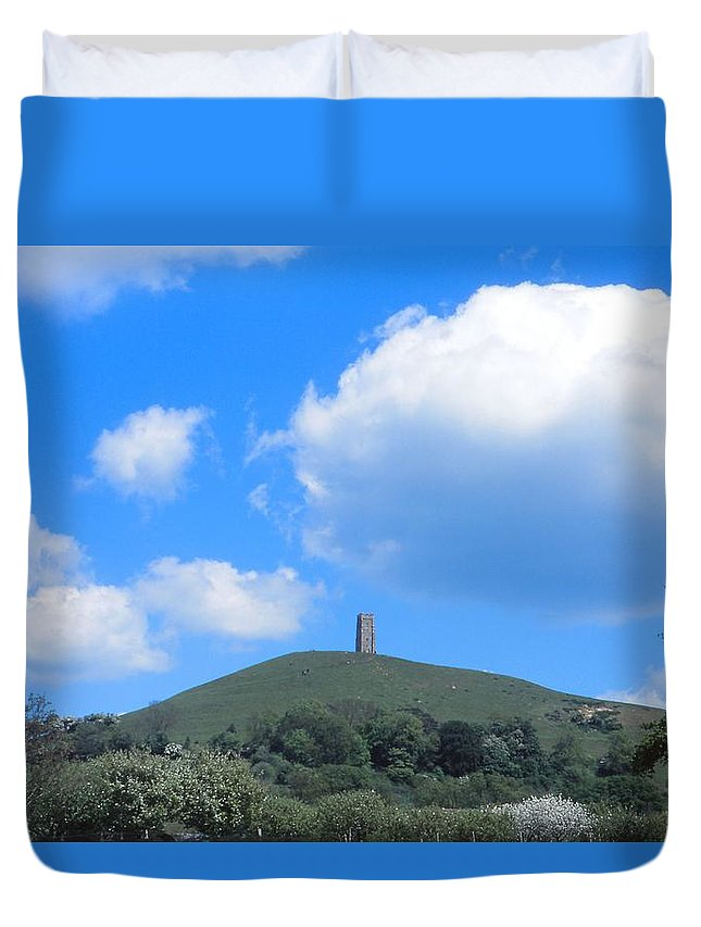 Glastonbury Tor Duvet Cover featuring the photograph Glastonbury Tor by Cynthia Wallentine