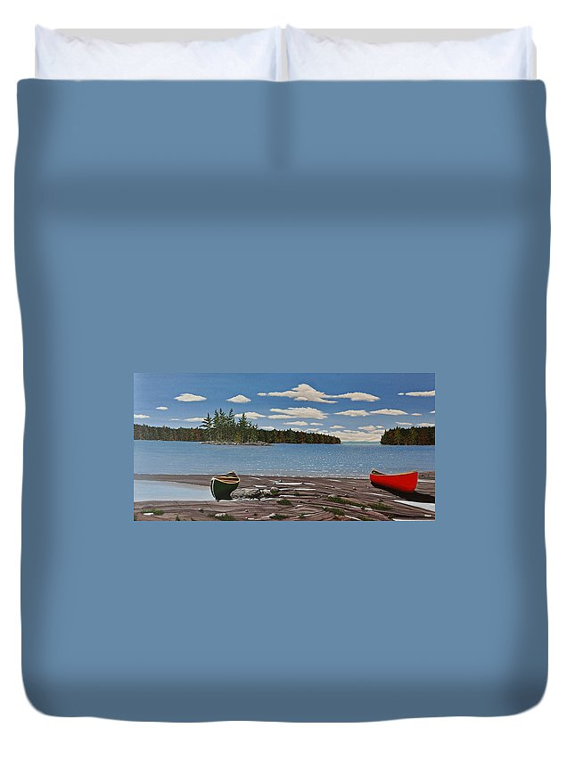 Landscapes Duvet Cover featuring the painting Glorious Day by Kenneth M Kirsch