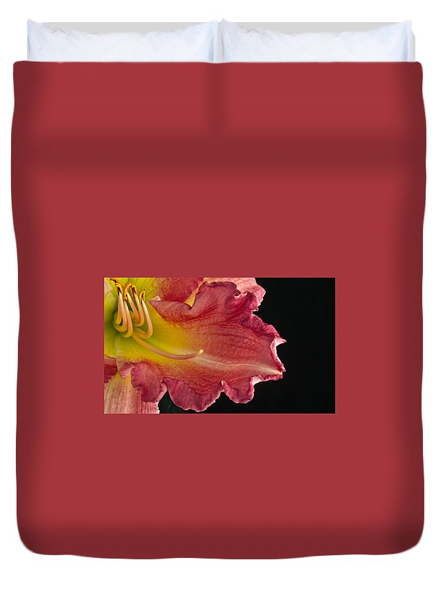 Glorious Duvet Cover featuring the photograph Glorious Lily by Douglas Barnett