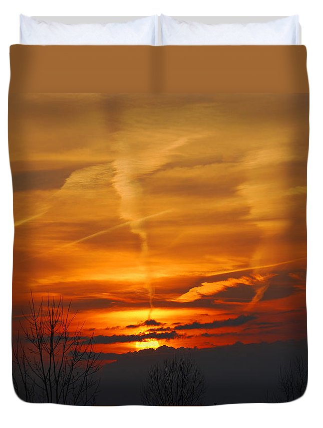 Autumn Duvet Cover featuring the photograph Glorious Sunset by StudioBoldt  Photography
