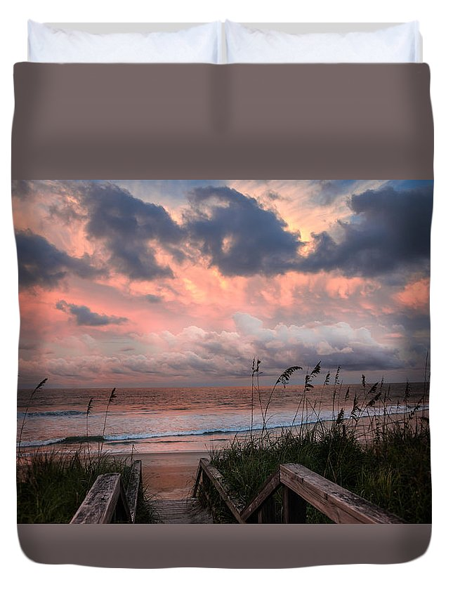 Dawn Duvet Cover featuring the photograph Glory Of Dawn by Karen Wiles