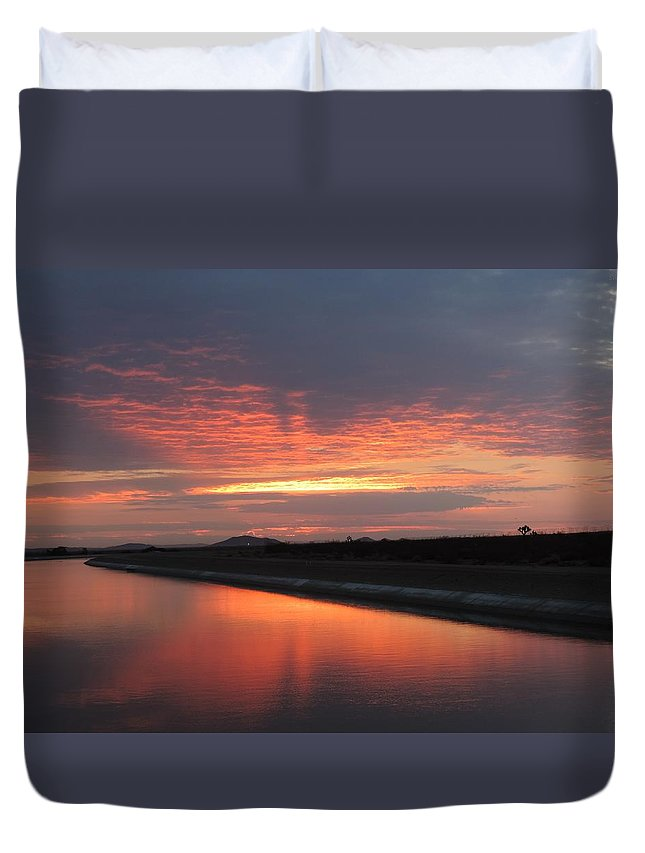 Sunrise Duvet Cover featuring the photograph Glory Sunrise by Enaid Silverwolf