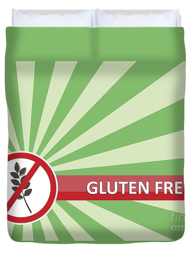 Product Duvet Cover featuring the photograph Gluten Free Banner by Tim Hester