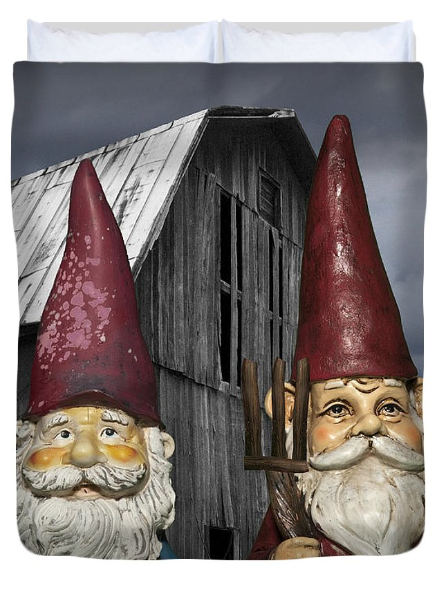 Beard Duvet Cover Featuring The Photograph Gnome Gothic By Randall Nyhof
