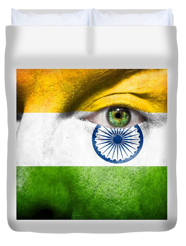 Art Duvet Cover featuring the photograph Go India by Semmick Photo