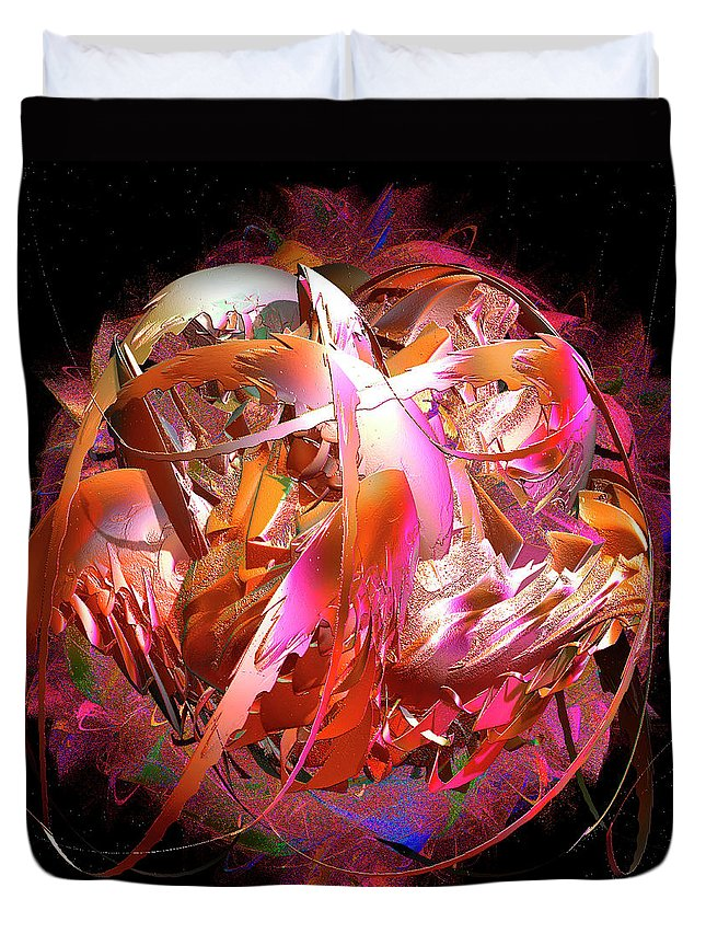 Digital Duvet Cover featuring the painting Go Inside And Play by Michael Durst