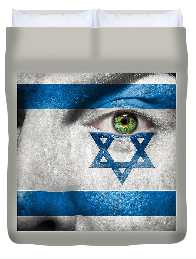 Art Duvet Cover featuring the photograph Go Israel by Semmick Photo
