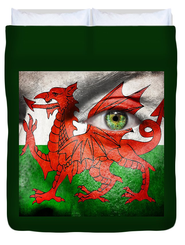 Art Duvet Cover featuring the photograph Go Wales by Semmick Photo
