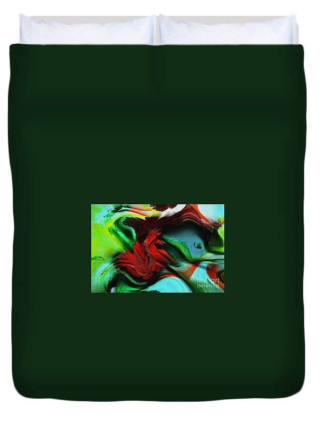 Go With The Flow Abstract Duvet Cover featuring the photograph Go With The Flow Abstract by Liane Wright