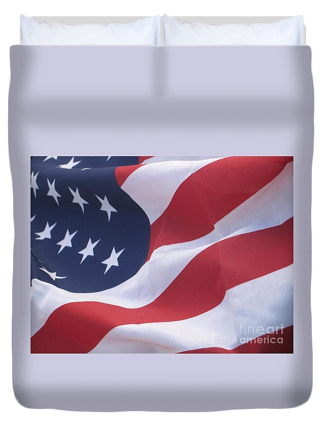 Photography Duvet Cover featuring the photograph God Bless America by Chrisann Ellis