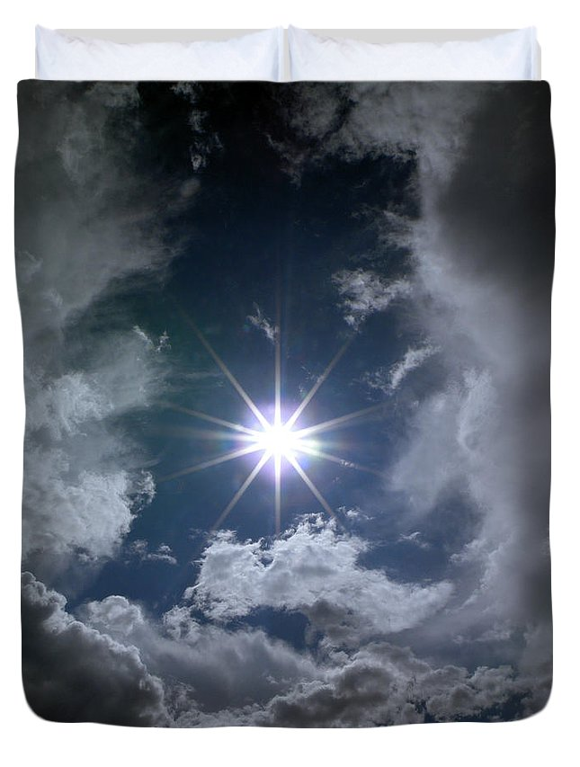 God Duvet Cover featuring the photograph God External by M Pace