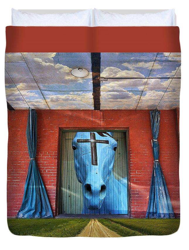 Godhead Duvet Cover featuring the photograph Godhead by Skip Hunt