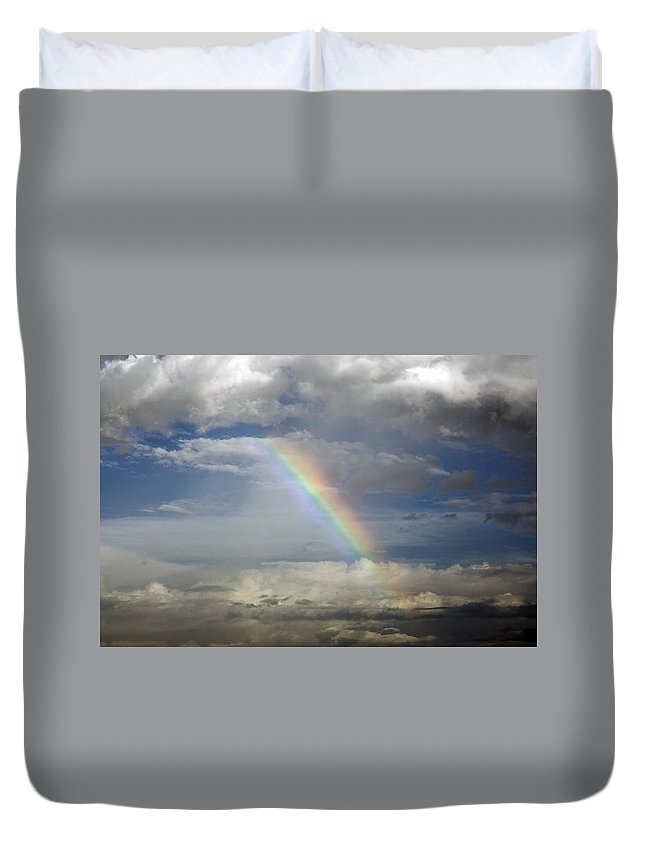 Rainbow Duvet Cover featuring the photograph God's Promise by Charles Beeler