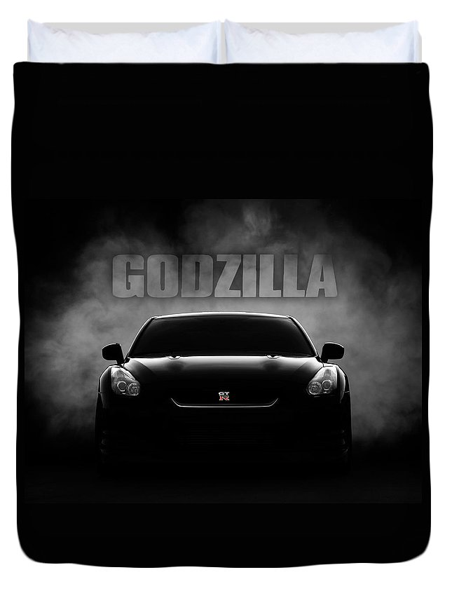 Gtr Duvet Cover featuring the digital art Godzilla by Douglas Pittman