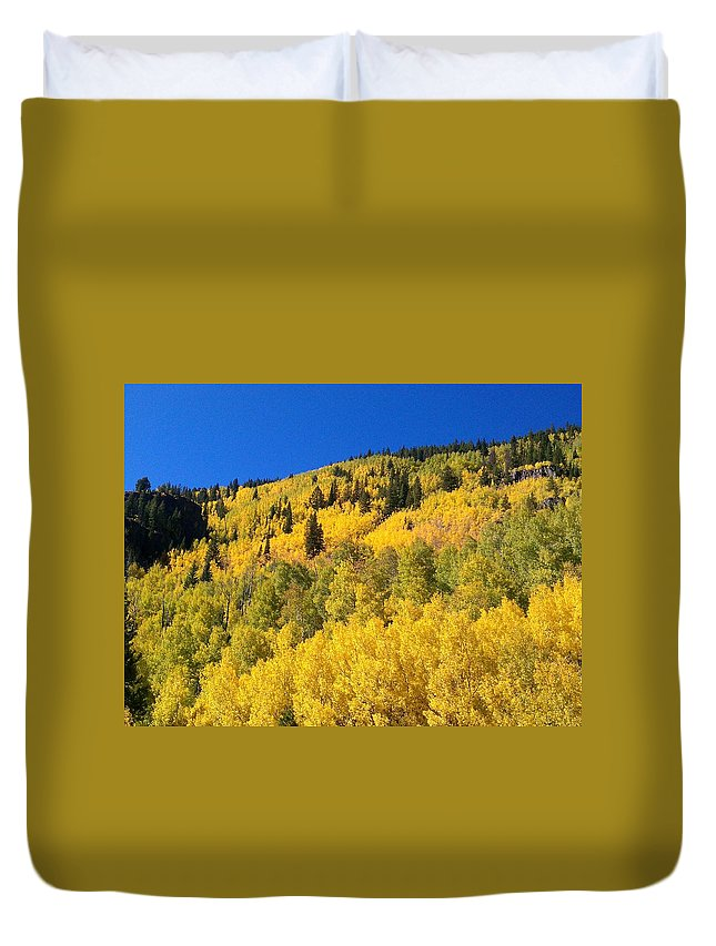 Landscape Duvet Cover featuring the photograph Going Gold by Fortunate Findings Shirley Dickerson