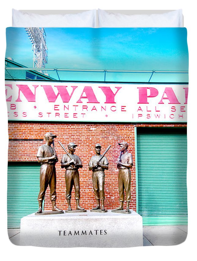 Boston Duvet Cover featuring the photograph Going To The Park by Greg Fortier