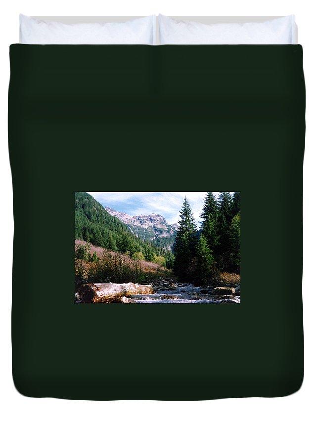 Northwest Landscape Duvet Cover featuring the photograph Gold Bar by Loren McNamara