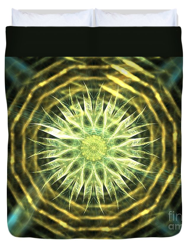 Apophysis Duvet Cover featuring the digital art Gold Bullion by Kim Sy Ok