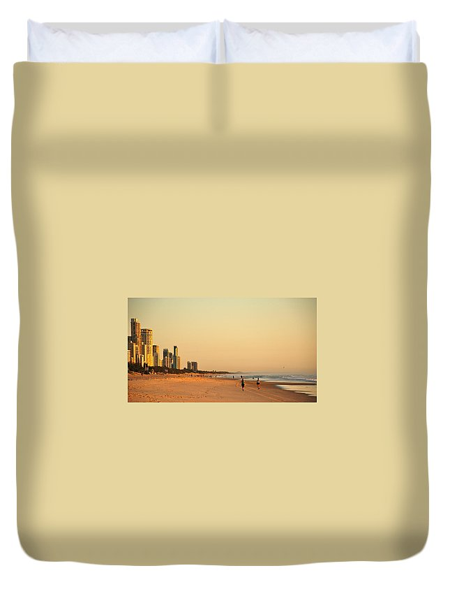 Beach Duvet Cover featuring the photograph Gold Coast Beach by Eric Tressler
