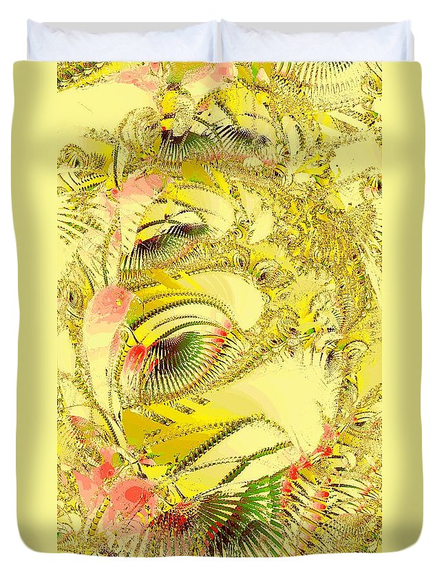 Abstract Duvet Cover featuring the digital art Golden by Anastasiya Malakhova