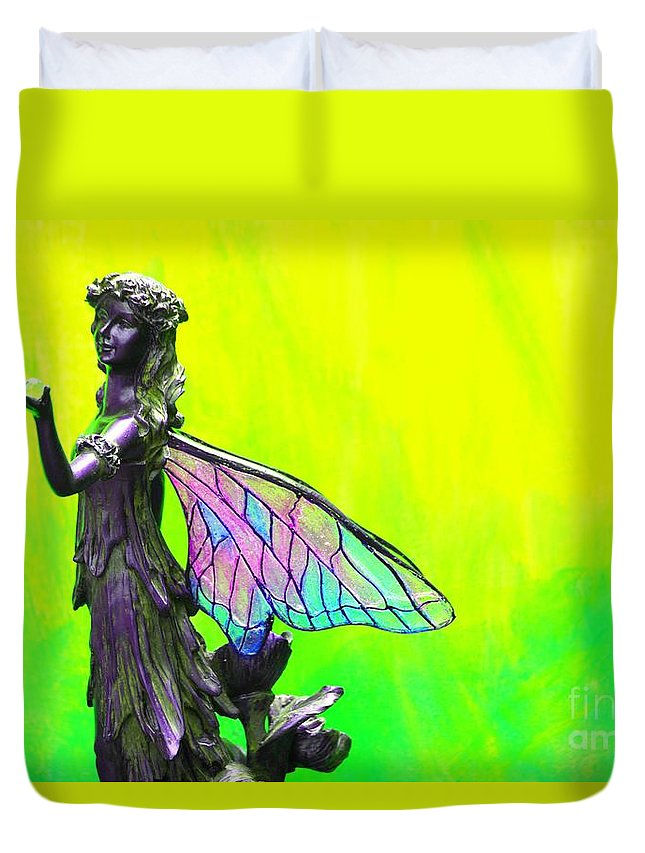 Golden Fairy Duvet Cover featuring the photograph Golden Fairy by Pharaoh Martin