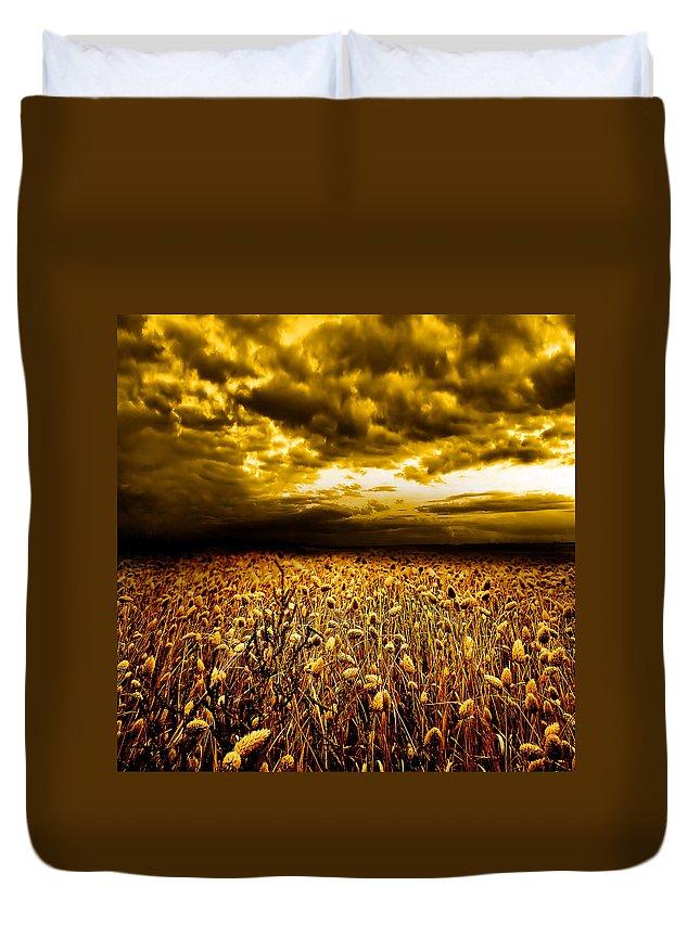 Art Duvet Cover featuring the photograph Golden Fields by Jacky Gerritsen