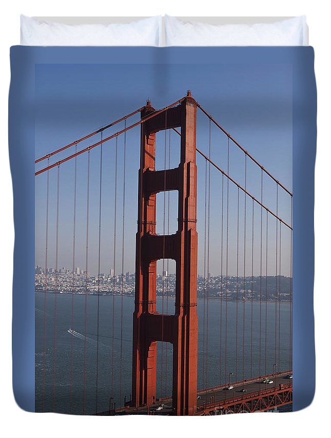 Golden Gate Bridge Duvet Cover featuring the photograph Golden Gate Bridge San Francisco by Jason O Watson