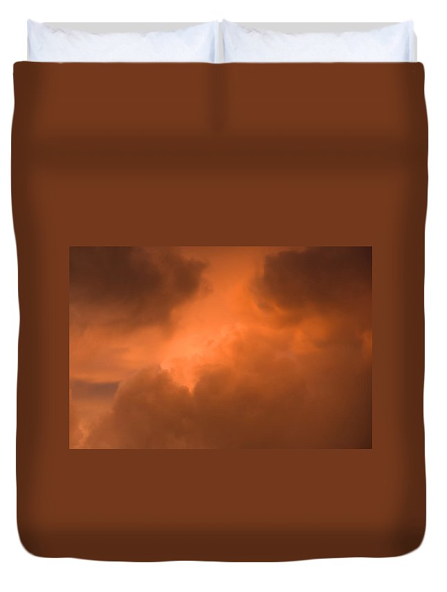 Cloud Duvet Cover featuring the photograph Golden Glow by Charles Beeler