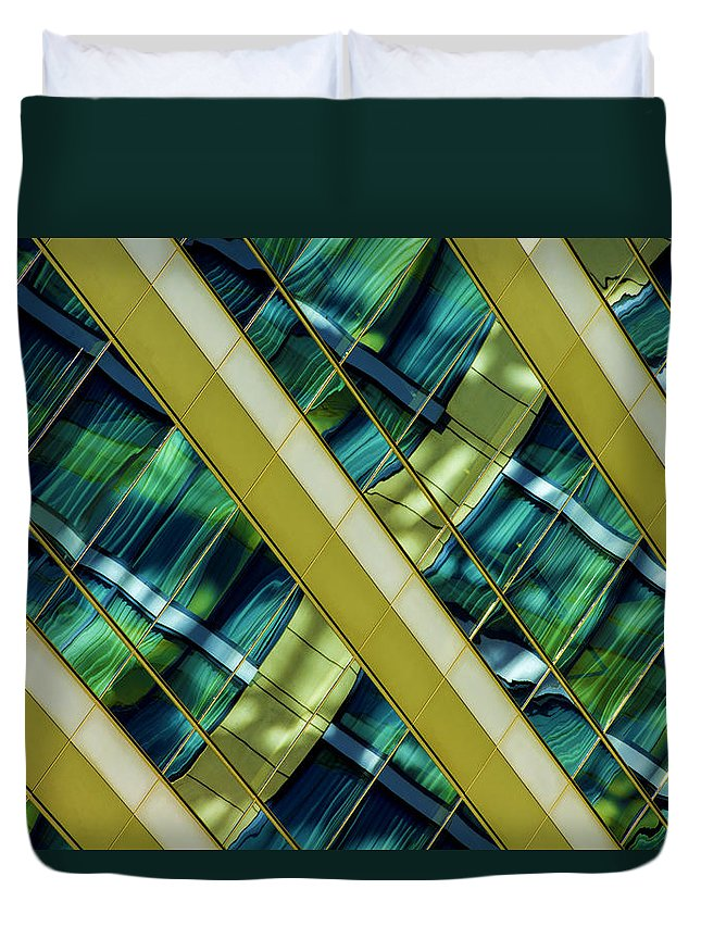 Duvet Cover featuring the photograph Golden Love by Raymond Kunst